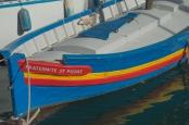 Colorful boat in Port-Vendres