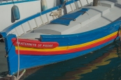 Colorful boat in Port-Vendres