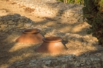 These ceramic dolia were used to store grain