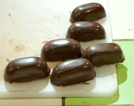 With tempered chocolate coating