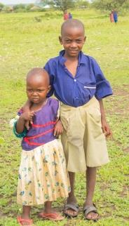 Maasai Boy & Sister