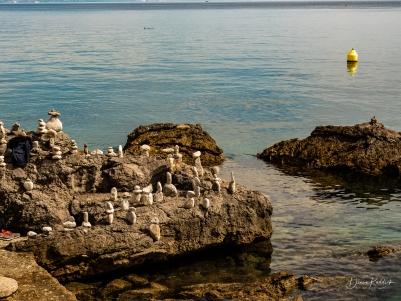 Stone Piles Along Promenade-2