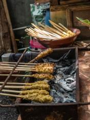 Grilling Tuna Paste Satay