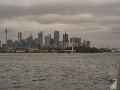 Sydney Skyline from Ferry to Manly